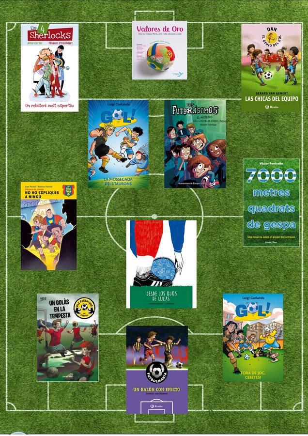 Fútbol y literatura infantil y juvenil en el Día del libro y de Sant Jordi (1/6)