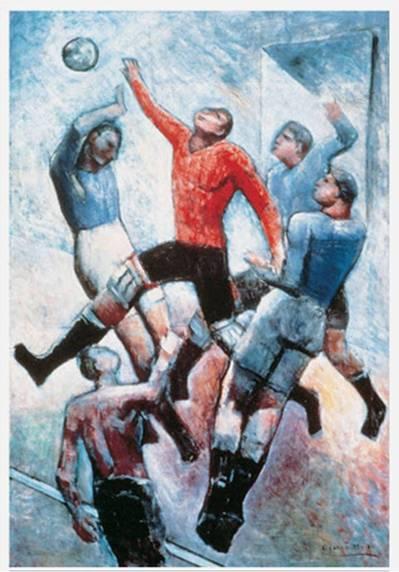 Carlo Carrá - Partido de fútbol