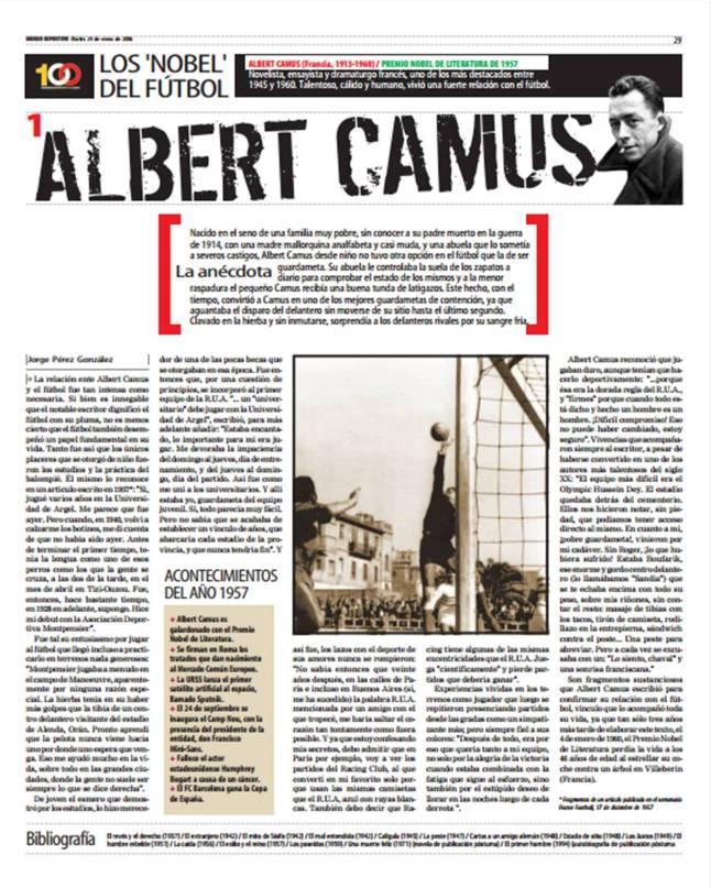 Albert Camus - Los nobel del fútbol