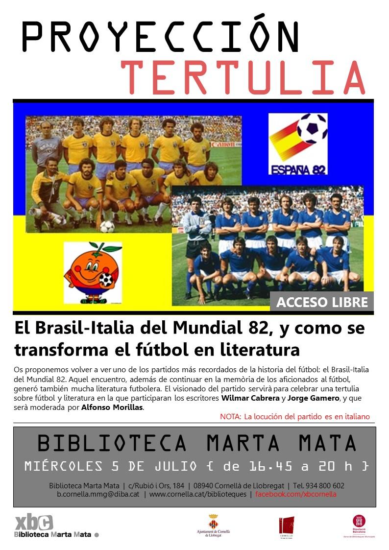 cartel brasil italia 1982 - castellano
