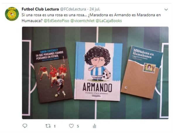 Tweet Gertrude Stein y Maradona