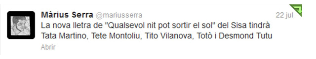 Tweet Marius Serra