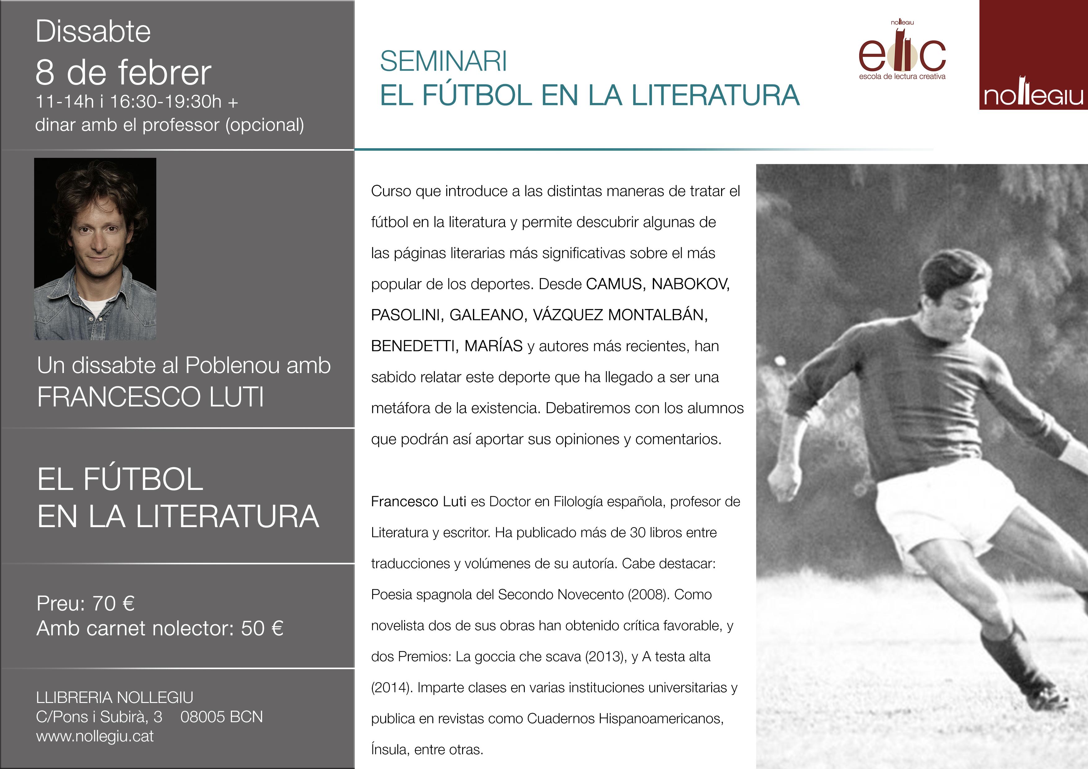 2020 - 8 de febrero - Seminario El fútbol en la literatura en la Librería Nollegiu.jpg