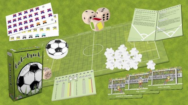 Hat Trick fútbol y dados en un juego de mesa